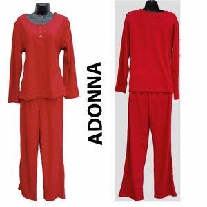 Adonna Intimates & Sleepwear - SOFT Red Pajamas CUSTOM Medium Top + Small Pants